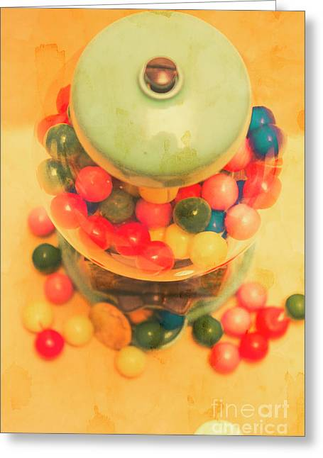 Vintage Candy Machine Greeting Card by Jorgo Photography - Wall Art Gallery