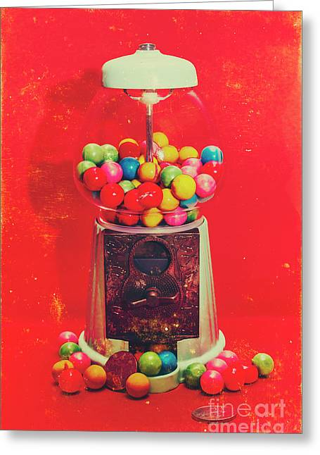 Vintage Candy Store Gum Ball Machine Greeting Card by Jorgo Photography - Wall Art Gallery