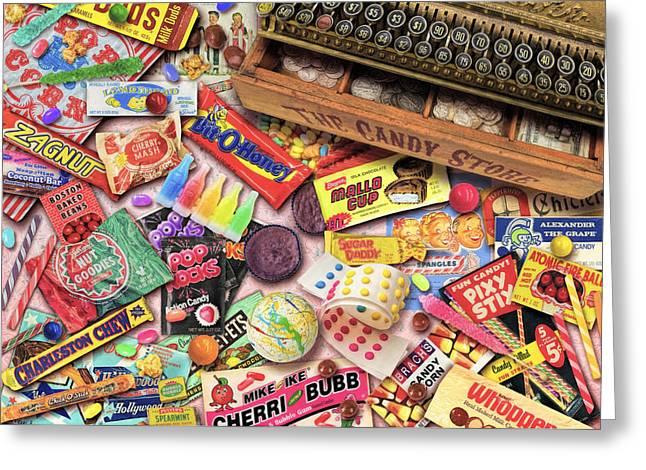 Vintage Candyshop Greeting Card by Aimee Stewart