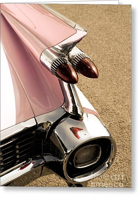 Sixties Style Automobile Greeting Cards - Vintage car Greeting Card by Andreas Berheide