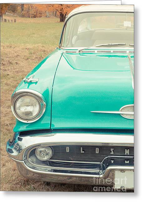 Vehicles Photographs Greeting Cards - Vintage Car in a Field Greeting Card by Edward Fielding