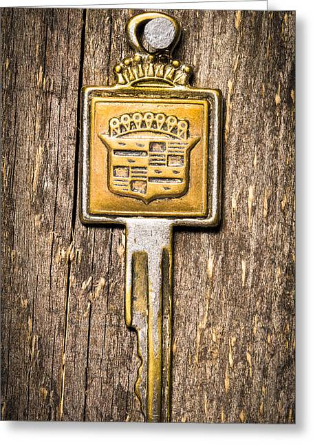 Owner Greeting Cards - Vintage Car Key Greeting Card by Donald  Erickson