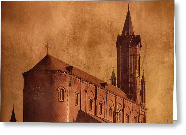Religious Pictures Greeting Cards - Vintage Church Greeting Card by Wim Lanclus