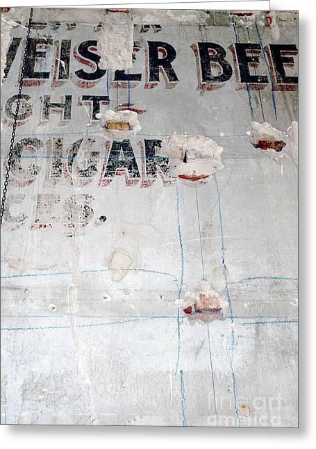 Anahi Decanio Greeting Cards - Vintage Cigar Sign Greeting Card by Anahi DeCanio