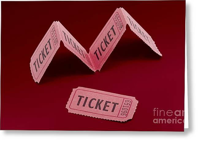 Vintage Cinema Movie Ticket Greeting Card by Jorgo Photography - Wall Art Gallery