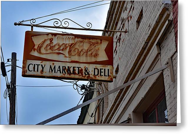 Grocery Store Greeting Cards - Vintage City Market - Deli Sign Greeting Card by Bill Hayes