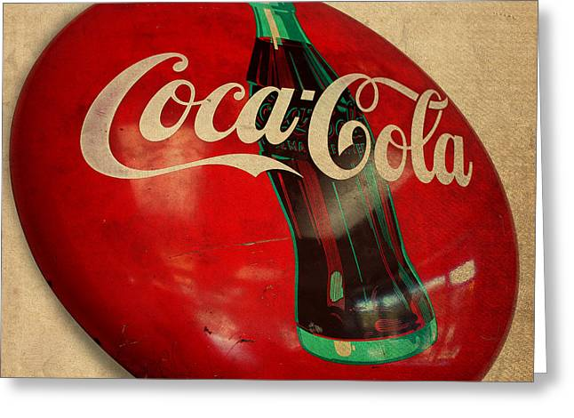 Vintage Coca Cola Sign Greeting Card by Design Turnpike