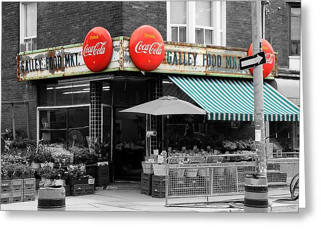 Vintage Coca Cola Signs Greeting Card by Andrew Fare