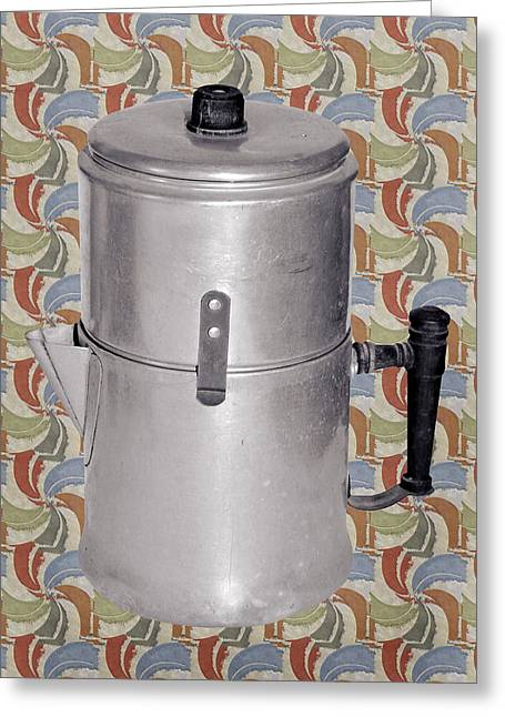 Photographs Greeting Cards - Vintage Coffee Pot Greeting Card by Susan Leggett