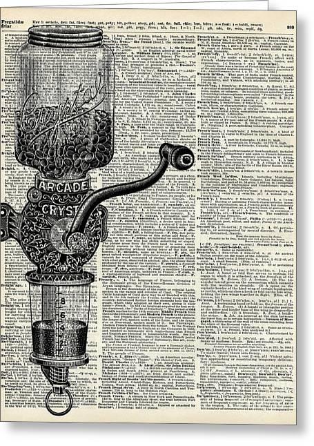 Vintage Coffee Grinder  Greeting Card by Jacob Kuch