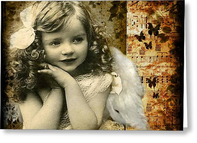 Vintage Collage 22 Greeting Card by Angelina Cornidez