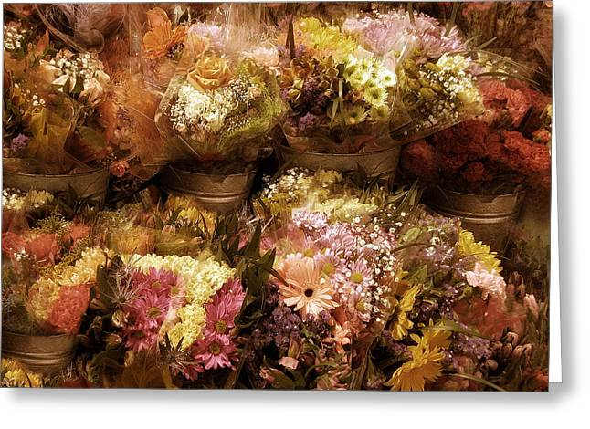 Floral Digital Art Greeting Cards - Vintage Collection Greeting Card by Jessica Jenney