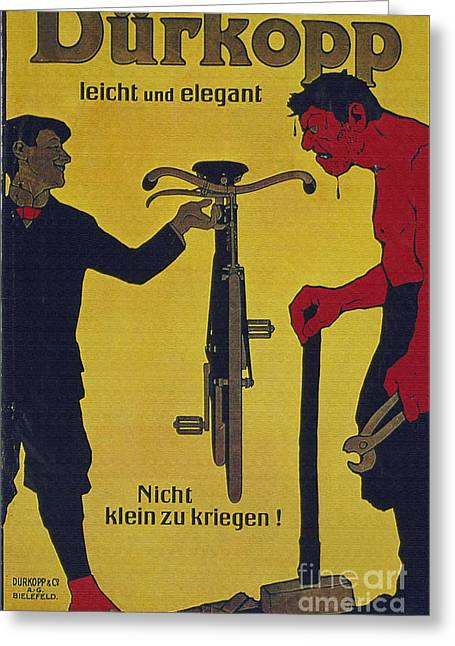 Leicht Greeting Cards - Vintage cycle poster Durkop leicht und elegant Greeting Card by R Muirhead Art