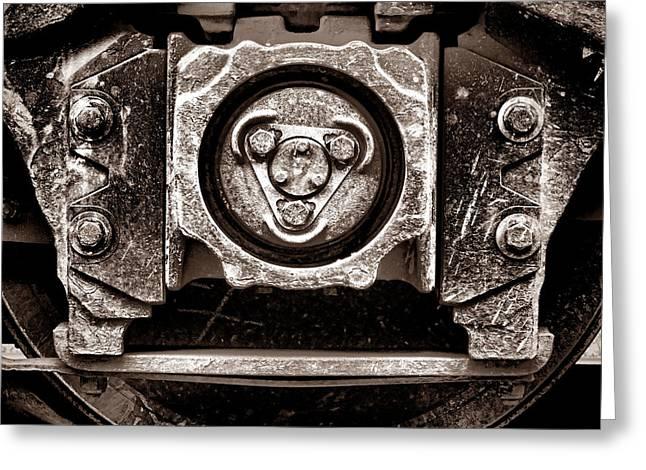 Vintage Diesel Engine Locomotive Truck Greeting Card by Olivier Le Queinec
