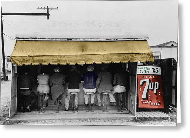 Vintage Diner 1939 Greeting Card by Andrew Fare