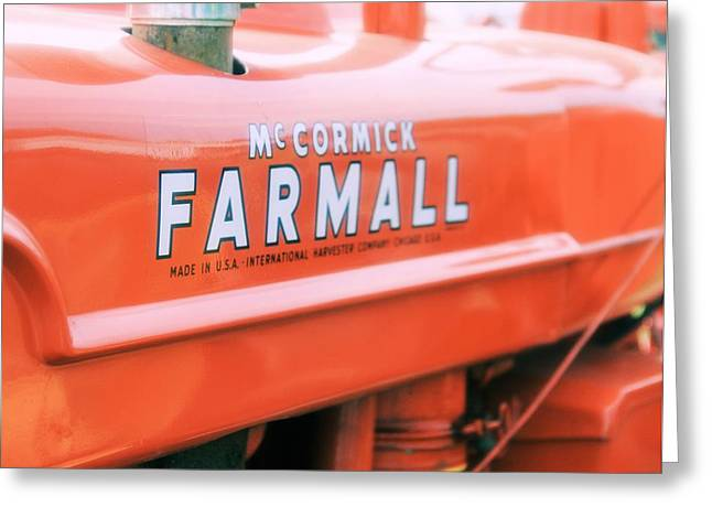 Mccormick Farmall Greeting Cards - Vintage Farmall Tractor Greeting Card by Dan Sproul