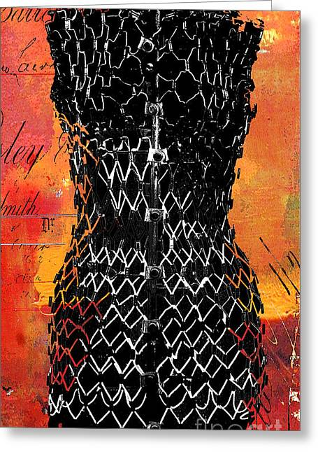 Dress Form Greeting Cards - Vintage Fashion Mannequin  Greeting Card by Anahi DeCanio - ArtyZen Studios