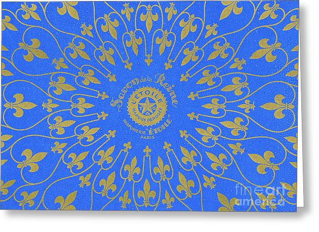 Vintage Fleur De Lis Pattern Design Greeting Card by French School