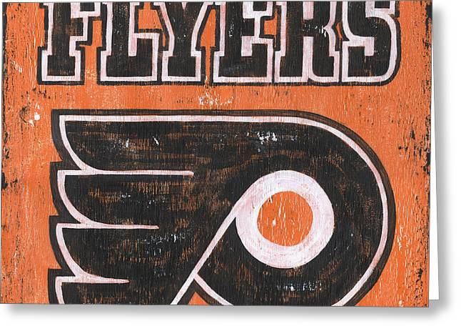 Vintage Flyers Sign Greeting Card by Debbie DeWitt