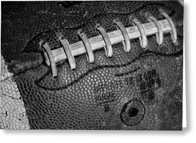 Football Closeup Greeting Cards - Vintage Football 3 Greeting Card by David Patterson