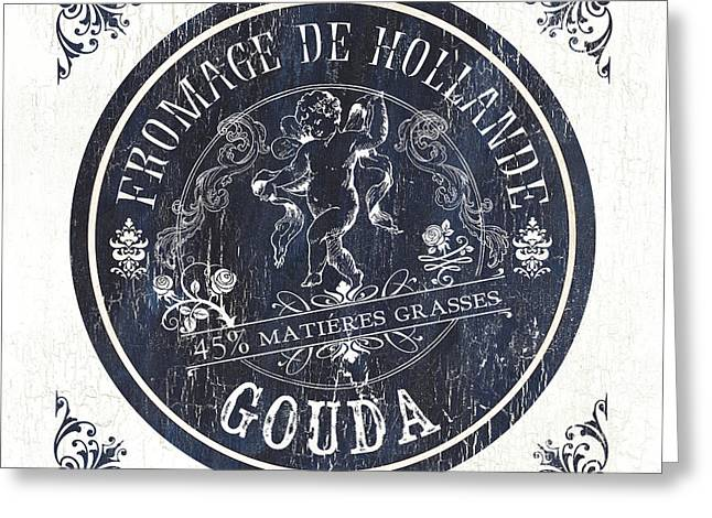Vintage French Cheese Label 1 Greeting Card by Debbie DeWitt
