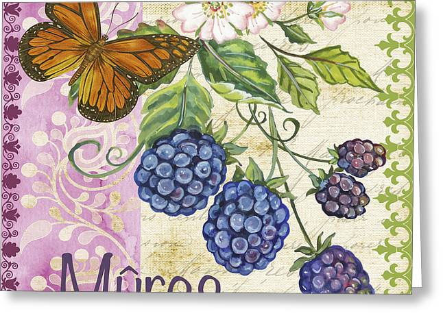 Hand Script Greeting Cards - Vintage French fruit-JP3109 Greeting Card by Jean Plout