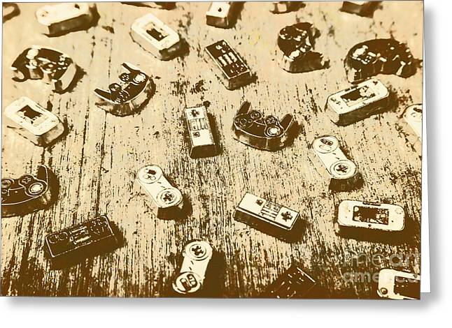 Vintage Gamers Greeting Card by Jorgo Photography - Wall Art Gallery