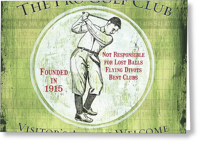 Vintage Golf Green 2 Greeting Card by Debbie DeWitt