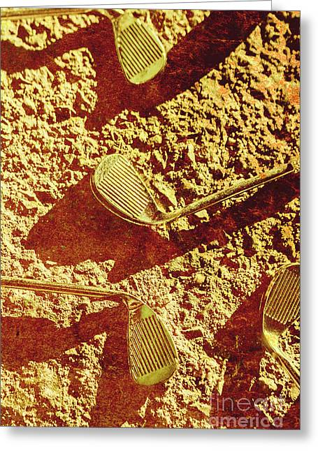 Vintage Golf Irons Greeting Card by Jorgo Photography - Wall Art Gallery