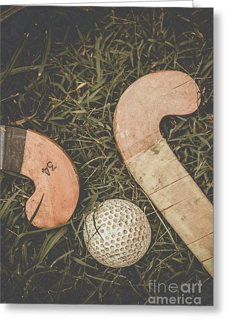 Vintage Hockey Greeting Card by Jorgo Photography - Wall Art Gallery