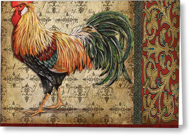 Le Coq Greeting Cards - Vintage Le Coq-JP3092 Greeting Card by Jean Plout