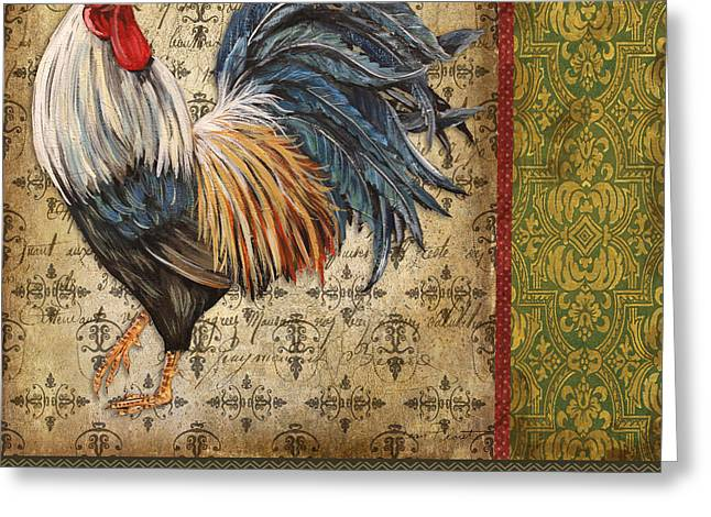 Le Coq Greeting Cards - Vintage Le Coq-JP3093 Greeting Card by Jean Plout