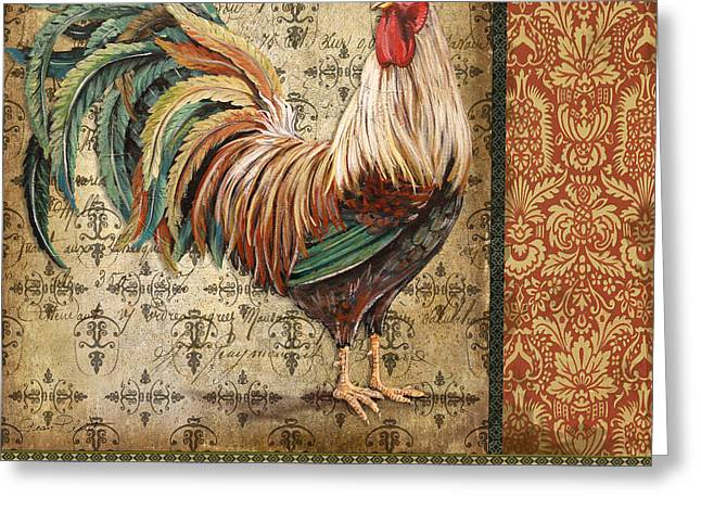 Le Coq Greeting Cards - Vintage Le Coq-JP3094 Greeting Card by Jean Plout