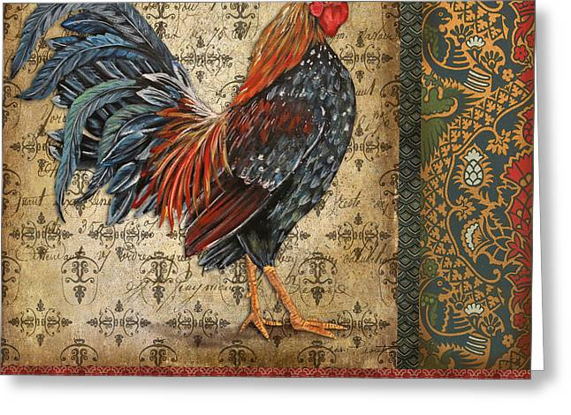 Ferme Greeting Cards - Vintage Le Coq-JP3095 Greeting Card by Jean Plout