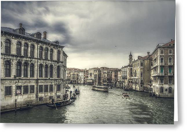 Color Enhanced Greeting Cards - Vintage look of Venice Greeting Card by Roberto Pagani