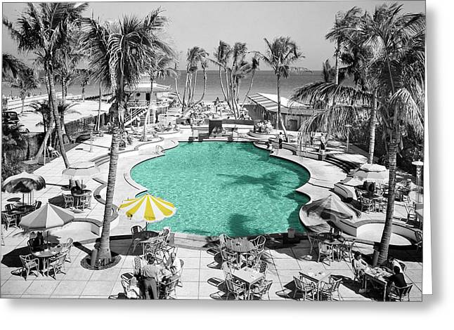 Miami Photographs Greeting Cards - Vintage Miami Greeting Card by Andrew Fare