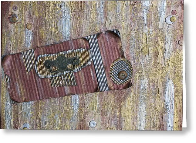 Hardware Paintings Greeting Cards - Vintage Greeting Card by Molly Roberts