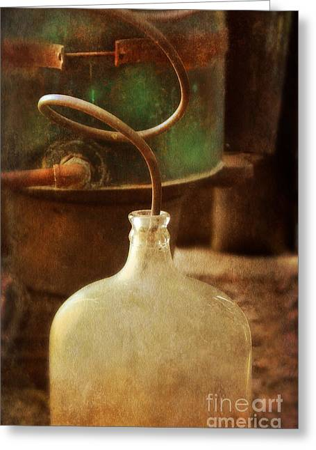 Illegal Greeting Cards - Vintage Moonshine Still Greeting Card by Jill Battaglia