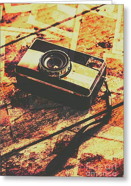 Vintage Old-fashioned Film Camera Greeting Card by Jorgo Photography - Wall Art Gallery