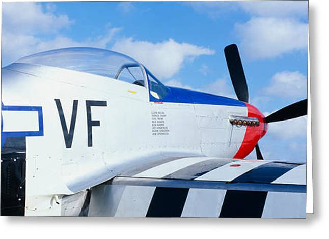 Multi-engine Greeting Cards - Vintage P51 Fighter Aircraft, Burnet Greeting Card by Panoramic Images