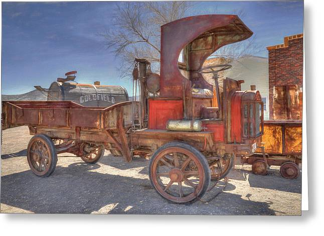 Vintage Packard Truck Greeting Card by Donna Kennedy