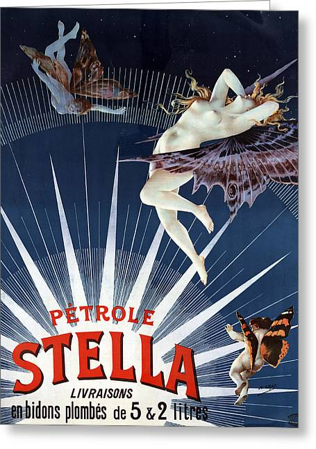 Creature Design Greeting Cards - Vintage Petrole Stella Poster Greeting Card by Henri Boulanger