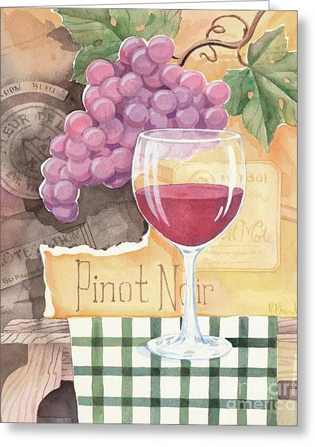 Purple Grapes Greeting Cards - Vintage Pinot Noir Greeting Card by Paul Brent