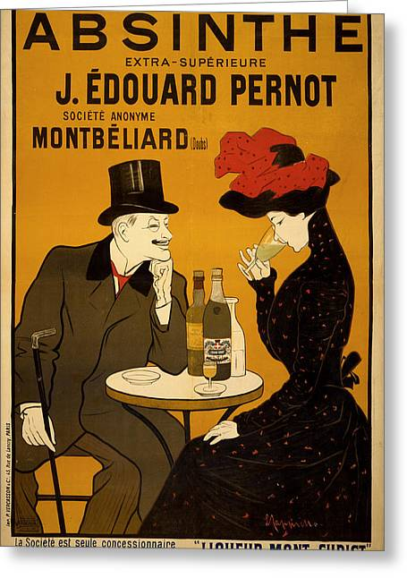 Absinthe Greeting Cards - Vintage Poster 2 Greeting Card by Andrew Fare