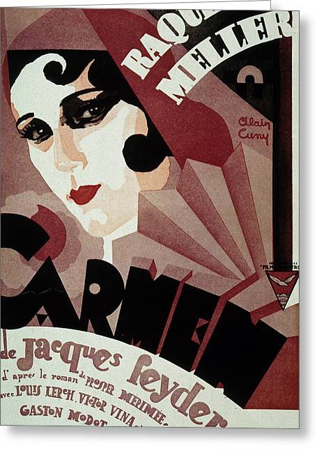 Vintage Movie Poster Greeting Cards - Vintage Poster for Carmen Greeting Card by French School