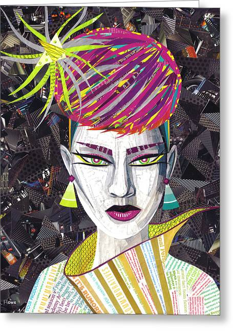 80s Greeting Cards - Vintage Punk  Greeting Card by Shawna  Rowe