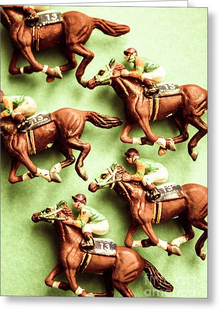 Vintage Racehorse Art Greeting Card by Jorgo Photography - Wall Art Gallery