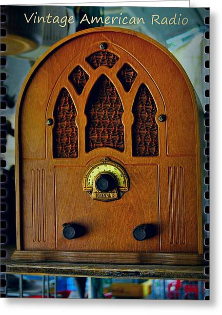 Vintage Cathedral Radio Greeting Card by ARTography by Pamela Smale Williams