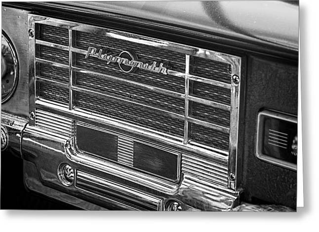 Vintage Radio B And W Greeting Card by Nick Gray
