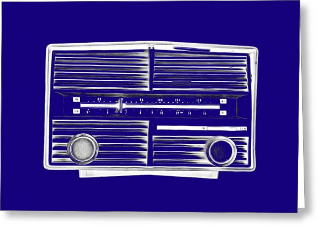 T Shirts Drawings Greeting Cards - Vintage Radio Tee Greeting Card by Edward Fielding